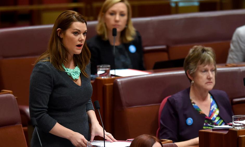 Sarah in AU parliament 1a LLLLLL