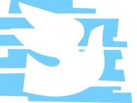 Bird white & blue backround 1a L