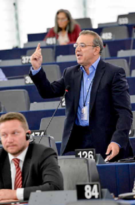 Costas Mavrides 6f standing in EU parliament LLLL