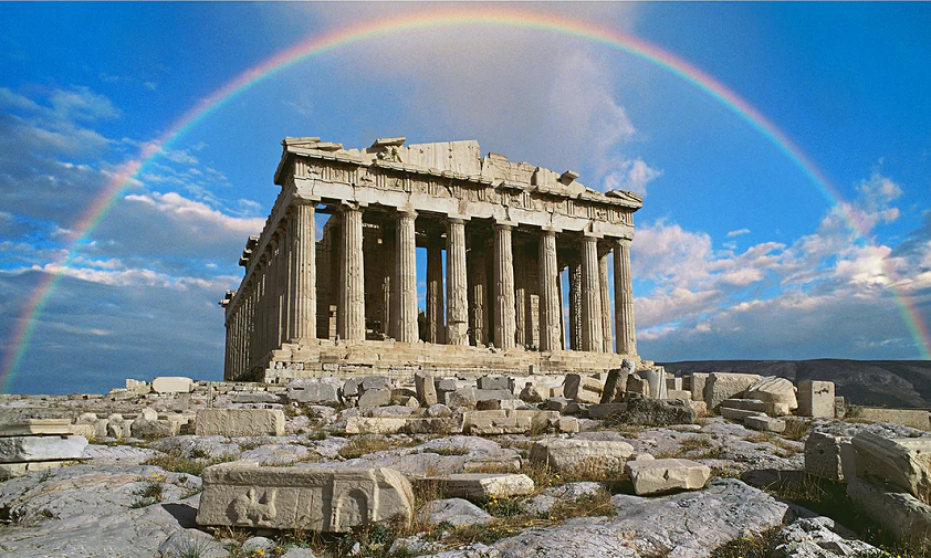 Parthenon & rainbow 1a Peter Walton Getty Images