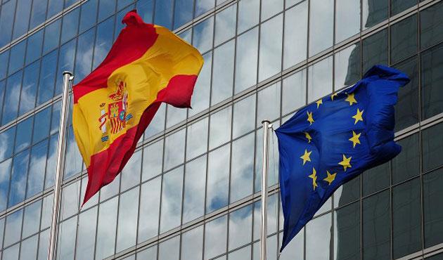 Spanish & EU flags 1a LLLL