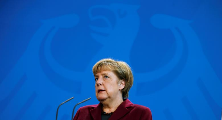 German Chancellor Angela Merkel addresses a news conference after talks with Malta's Prime Minister Joseph Muscat at the chancellery in Berlin, Germany, November 29, 2016. REUTERS/Hannibal Hanschke