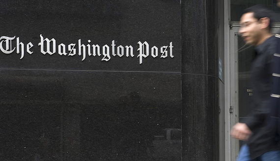 A general view of the exterior of the Washington Post Company headquarters in Washington, March 30, 2012. REUTERS/Jonathan Ernst (UNITED STATES - Tags: BUSINESS MEDIA) - RTR304SI