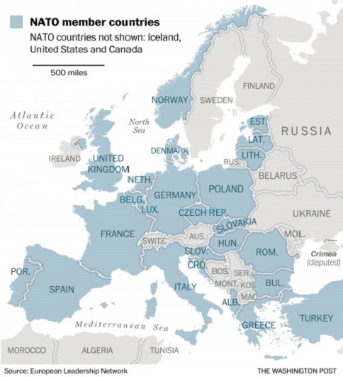 NATO member countries 1a map LLLL
