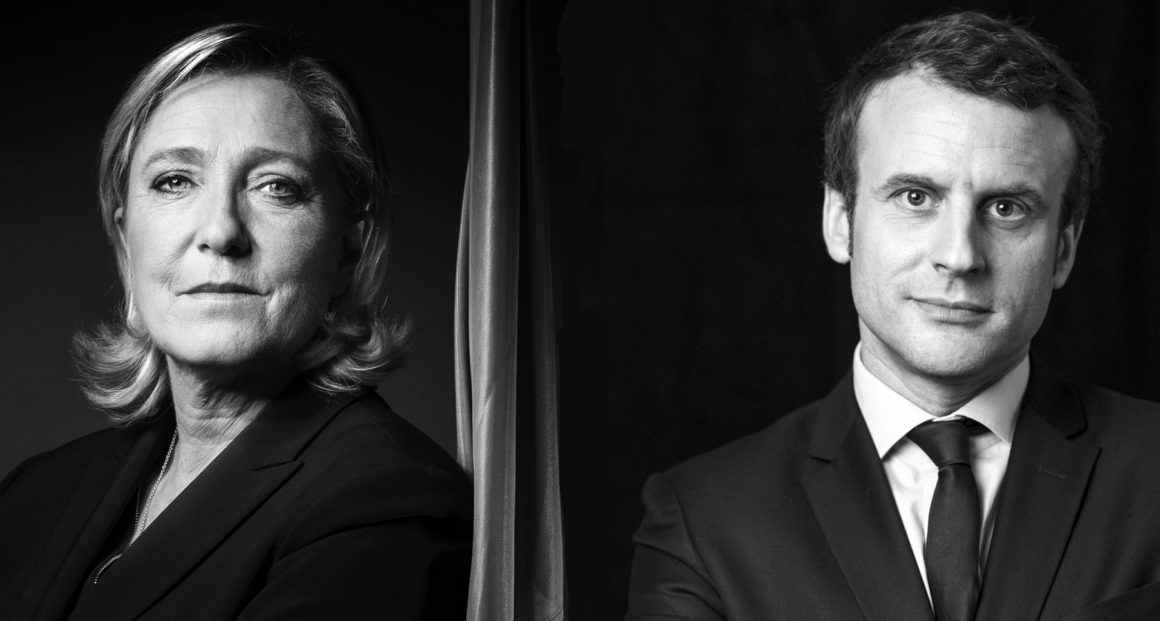 BLACK AND WHITE VERSION President of the French far-right party and presidential candidate for the 2017 French Presidential elections Marine Le Pen poses during a photo session in Nanterre on October 17, 2016. / AFP / JOEL SAGET / BLACK AND WHITE VERSION (Photo credit should read JOEL SAGET/AFP/Getty Images)
