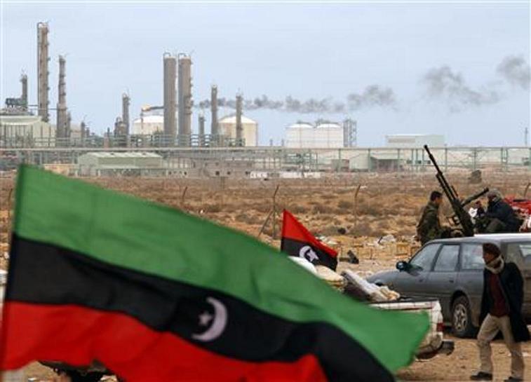 Libyan rebels & flag 1a LLLL