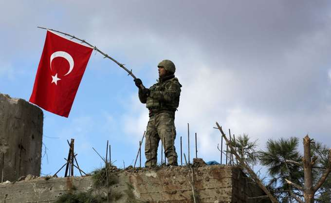 Tr flag in Afrin 1a soldier LLLL