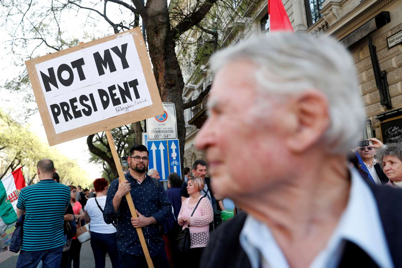 Not My President 1a Reuters LLLL Hungary