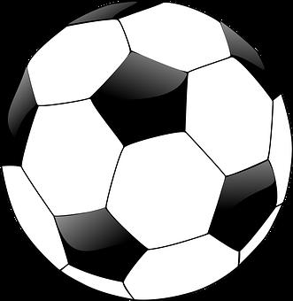 Soccer ball 2b black & white LLL