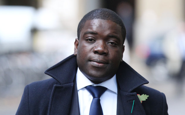 Alleged rogue trader Kweku Adoboli arrives at Southwark Crown Court where he will continue to give evidence after being accused of gambling away £1.4 billion while working for Swiss bank UBS.
