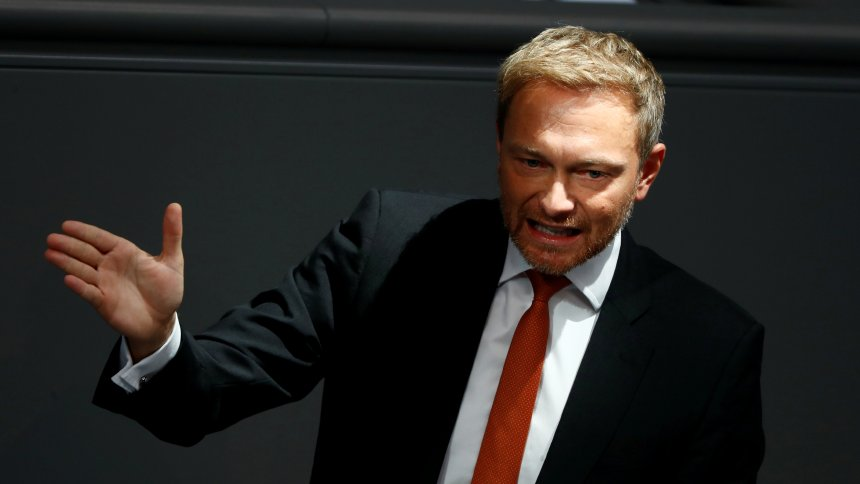 Free Democratic Party (FDP) leader Christian Lindner speaks during a session at the lower house of parliament Bundestag in Berlin, Germany, October 17, 2018. REUTERS/Fabrizio Bensch