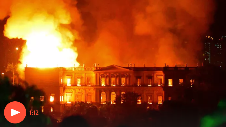 Photo of Brazil museum fire: 'incalculable' loss as 200-year-old Rio institution gutted