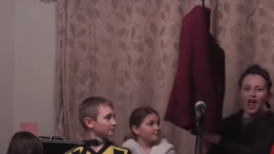Photo of Family's lockdown adaptation of Les Misérables song goes viral – video