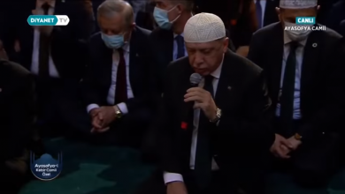 Photo of Tayyip Erdogan joins thousands at Hagia Sophia for Friday prayer